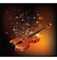 Violin With Melody vector image