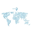 world map from circles for infographic vector image vector image