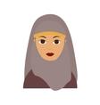 Islam Woman Flat vector image
