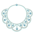 womans necklace with precious stones vector image