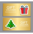 Gift Voucher Template for Christmas and New Year vector image