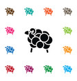 isolated calf icon goat element can be vector image