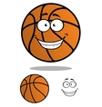 Basketball ball cartooned mascot vector image vector image