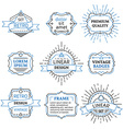 Set of outline duotone design elements vector image