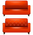 Sofa with red leather vector image