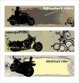 adventure rider vector image