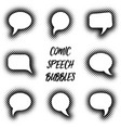 cartoon comic speech bubbles vector image