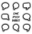 cartoon comic speech bubbles vector image