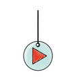 decorative pendant with arrow vector image