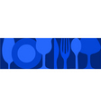 Dinning background vector image