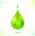 Green liquid drop vector image