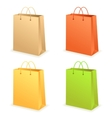 Paperbag set vector image
