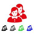 sad women icon vector image