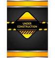 under construction black corduroy background vector image
