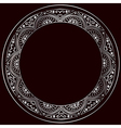 round silver frame vector image