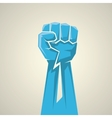 freedom concept fist icon vector image