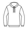 Hoody icon outline style vector image