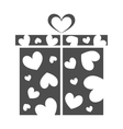 Gift box present on Valentines day vector image