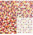 geometric orange seamless pattern vector image