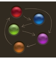 Business Diagram Management Strategy Buttons on vector image