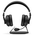 acoustic headphones 04 vector image vector image