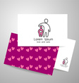 love care logo vector image