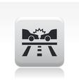 road crash icon vector image vector image