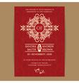 Wedding red vintage invitation vector image vector image
