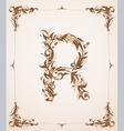vintage letter r vector image vector image
