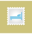 Bed stamp vector image