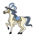 circus horse show happy festive image vector image