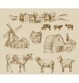 farm hand drawn vector image