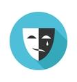 flat modern round mask icon vector image