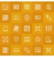 Internet education line icons vector image