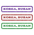 korea busan watermark stamp vector image