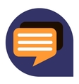 Messages or dialog icon of set tricolor vector image