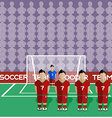 Portugal Soccer Club Penalty on a Stadium vector image