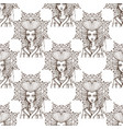 seamless pattern with beautiful female portraits vector image