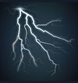 storm with lightning isolated on transparent vector image