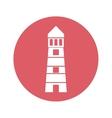 lighthouse emblem icon image vector image