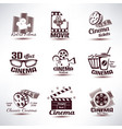 cinema symbols and retro emblems collection vector image vector image