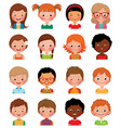 Set of avatars of different boys and girls vector image vector image