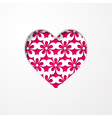 floral background with a heart vector image