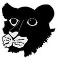tiger cub vector image vector image