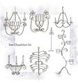 Iron chandeliers set vector image vector image