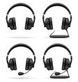 acoustic headphones 05 vector image