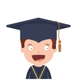 half body avatar boy with graduation outfit vector image