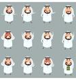 Set of cartoon muslim icons1 vector image