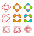 abstract circular linearrowand shape logo set vector image
