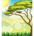 A tree and a sun vector image vector image